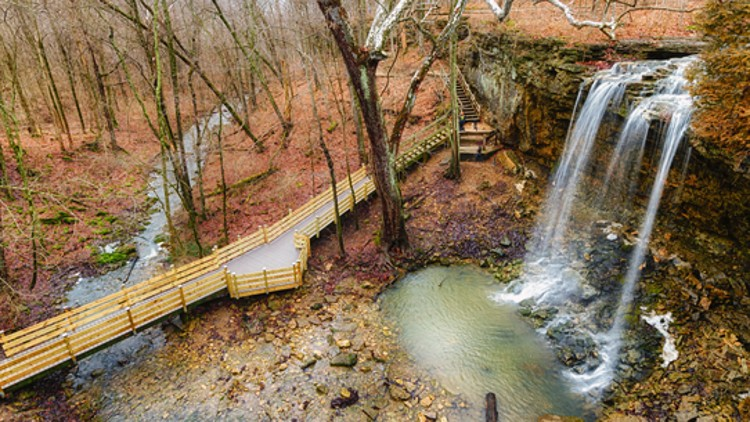 Charleston Falls - a waterfall