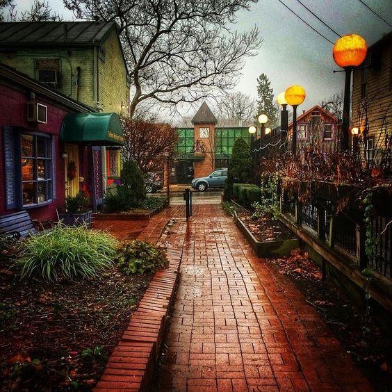 A rainy day in Dayton.