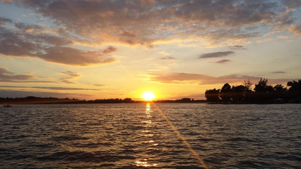 sunset over indian lake ohio