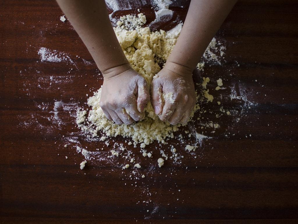 a person baking