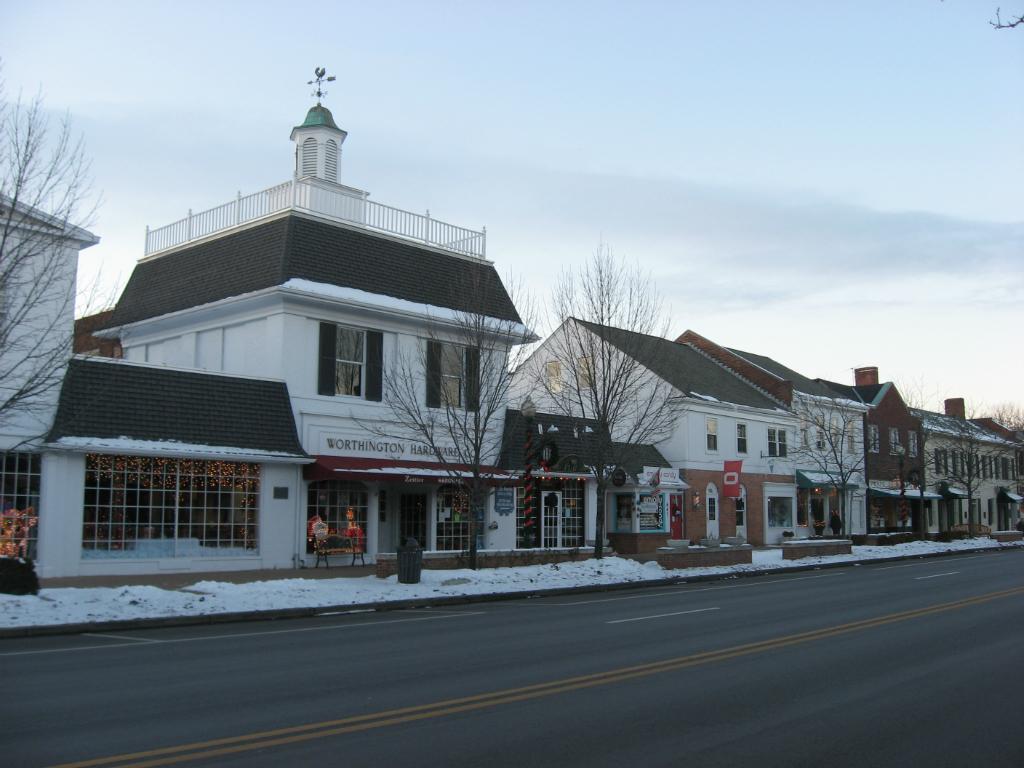 a street in the neighborhood of worthington