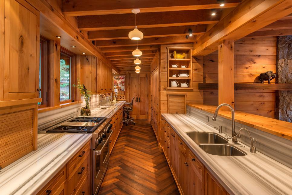 a unique all wood kitchen design
