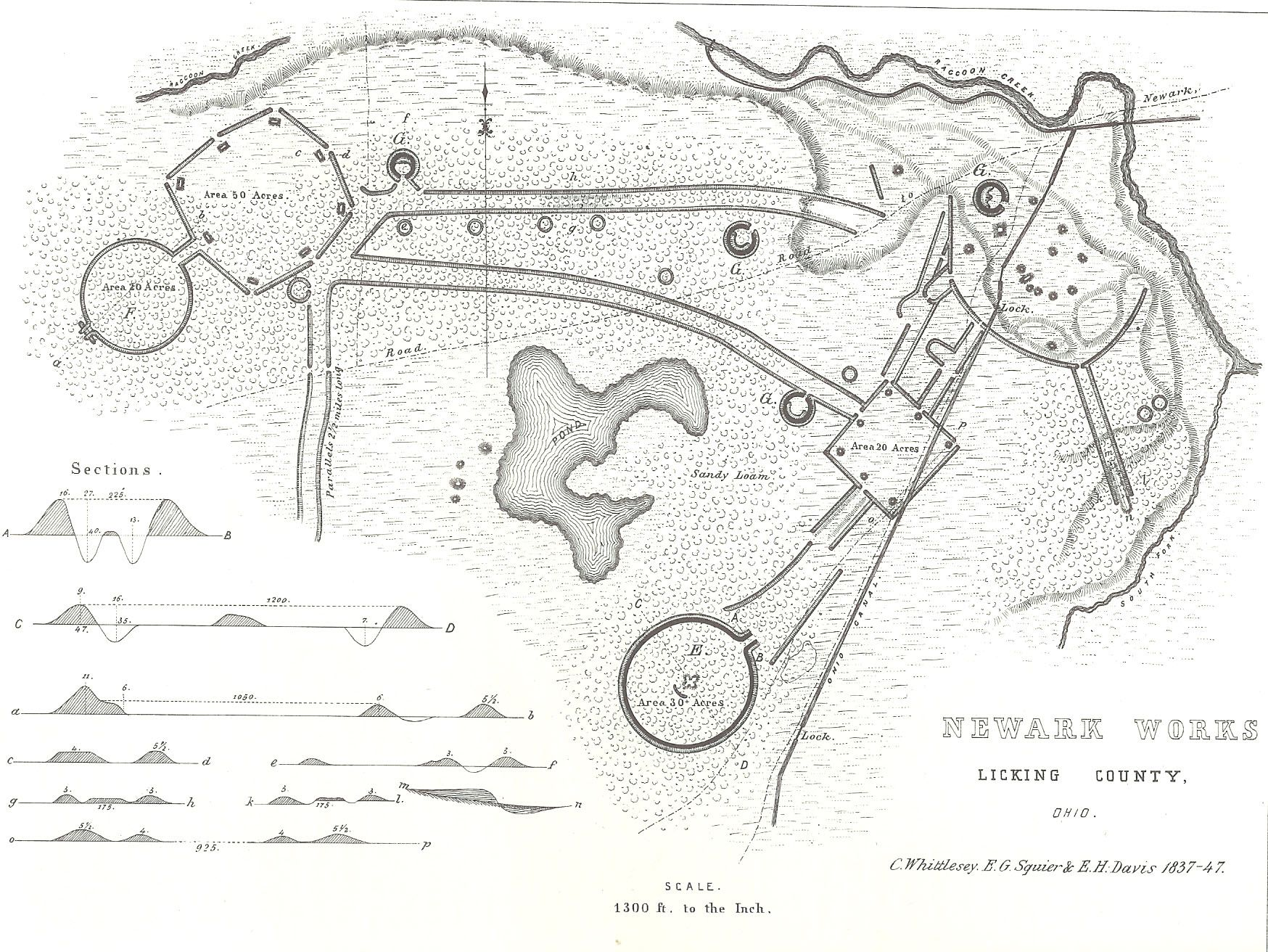a map of they Newark Earthwords