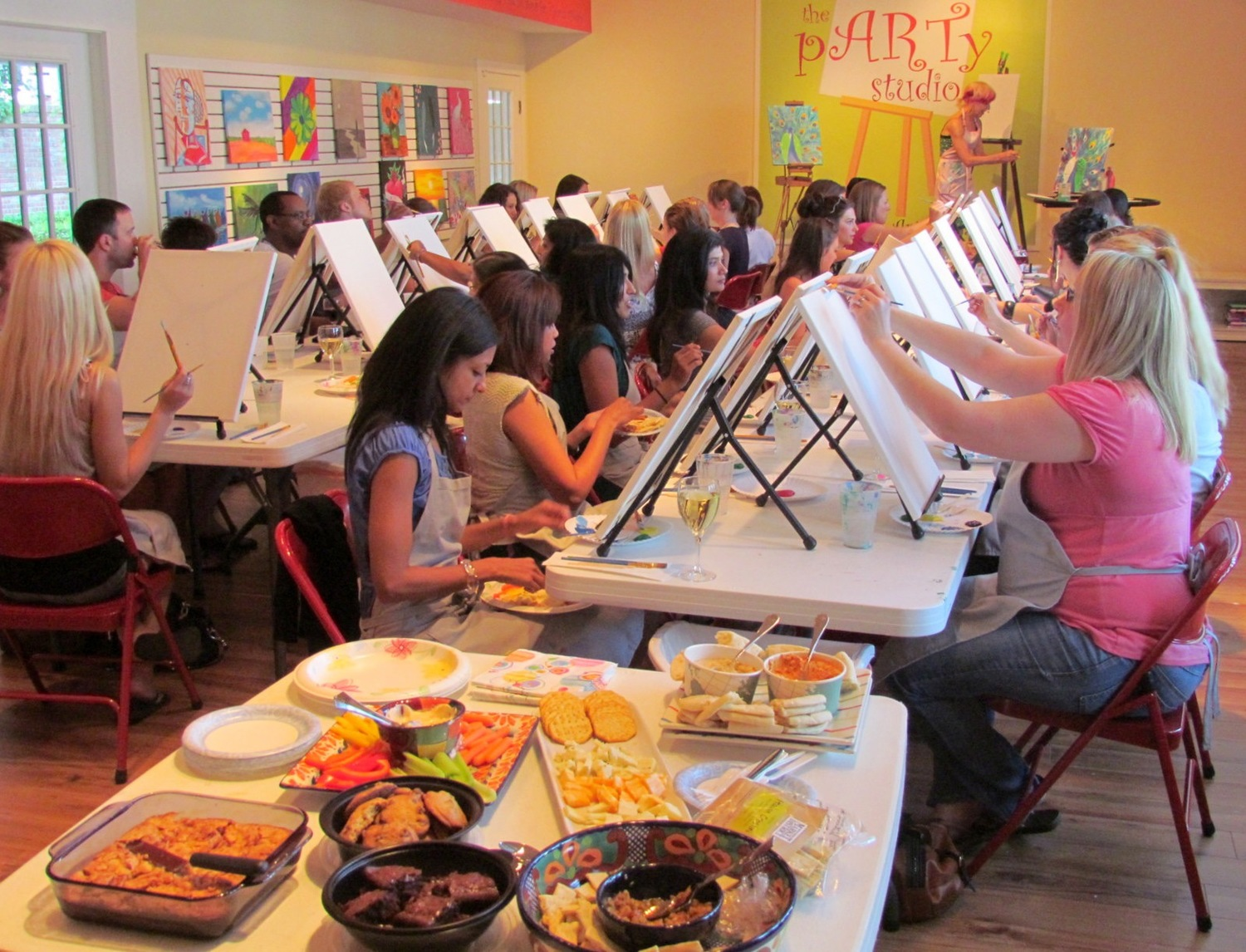The art scene in Worthington is notable and you can sign up for fun events like art parties