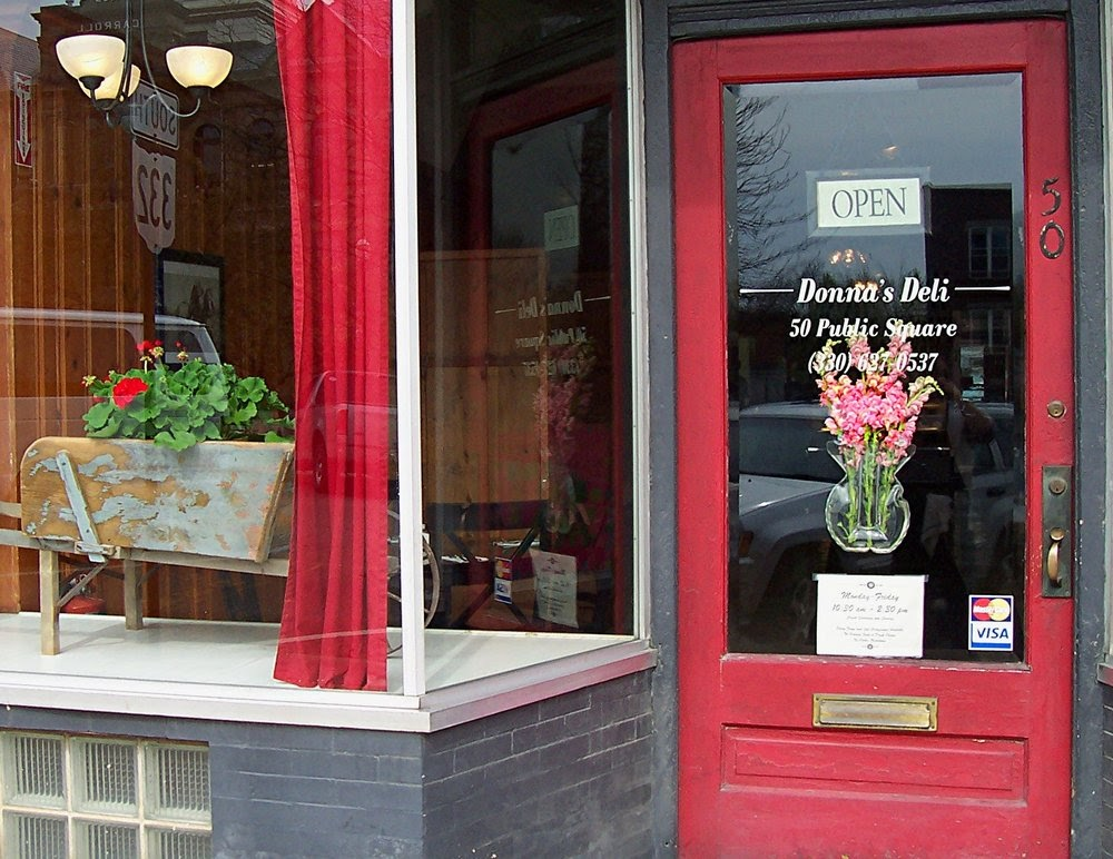 The shop front of Donna's Deli in Augusta, Ohio.