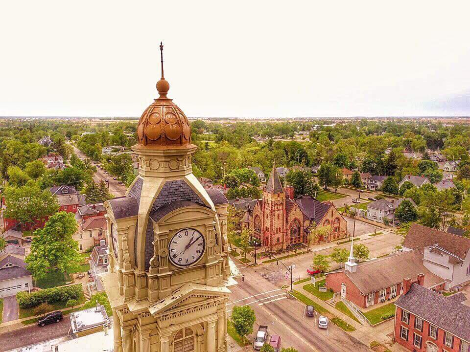 an aerial view of london ohio