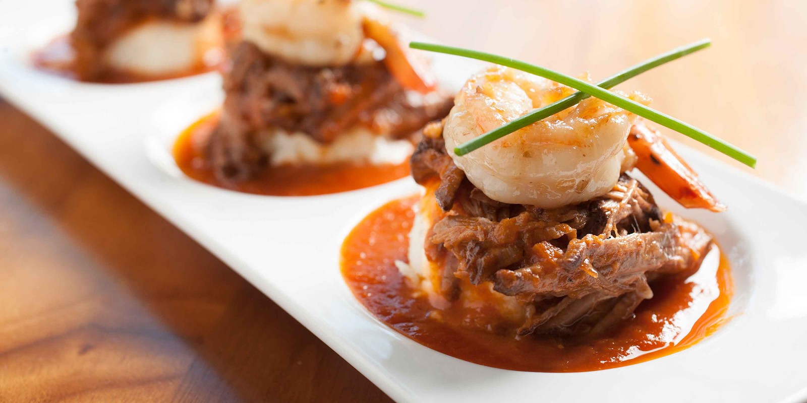Dish from Hubbard Grille with shrimp and barbecue