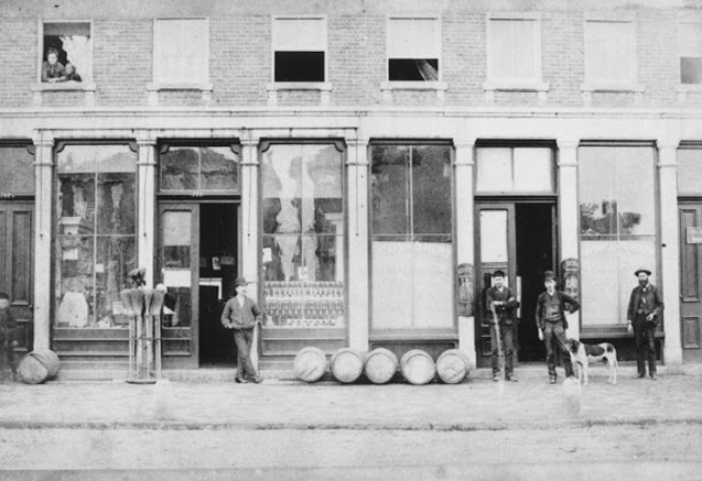 Archival image of German Village where current day Schmidt's is. Back then, it was a storefront business.