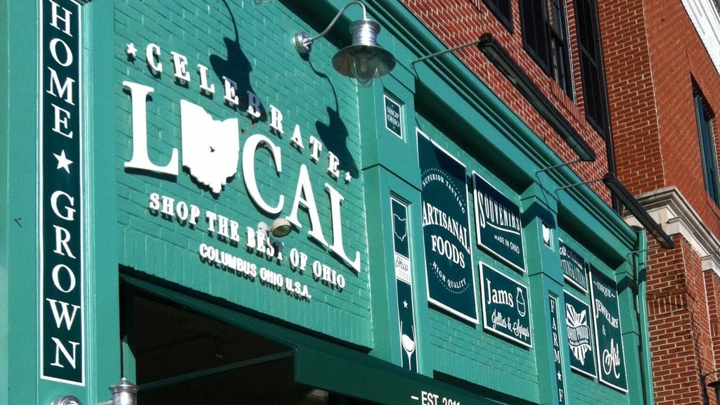 The storefront of Celebrate Local