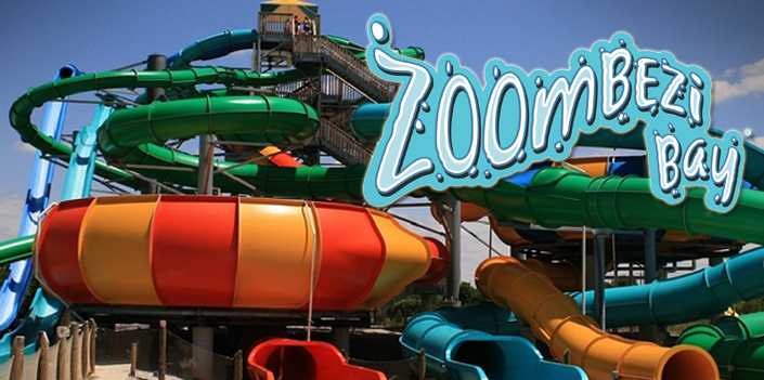 Zoombezi Bay Waterpark featuring water slides