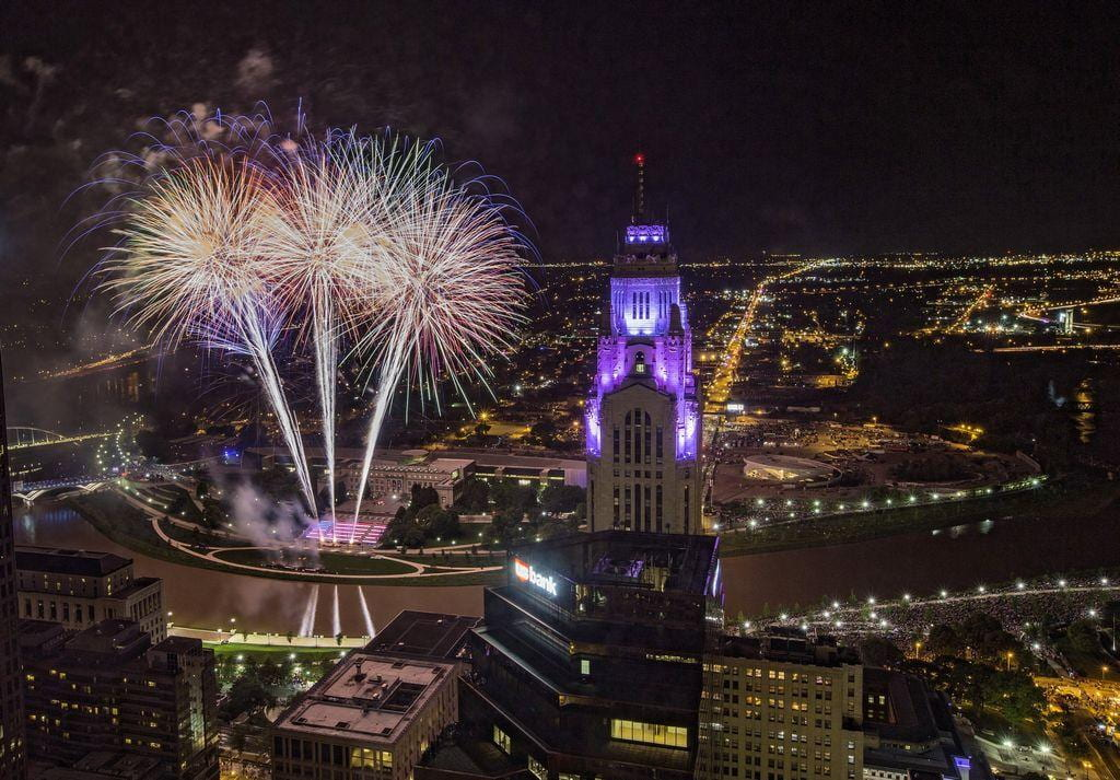 Fireworks going off in Ohio