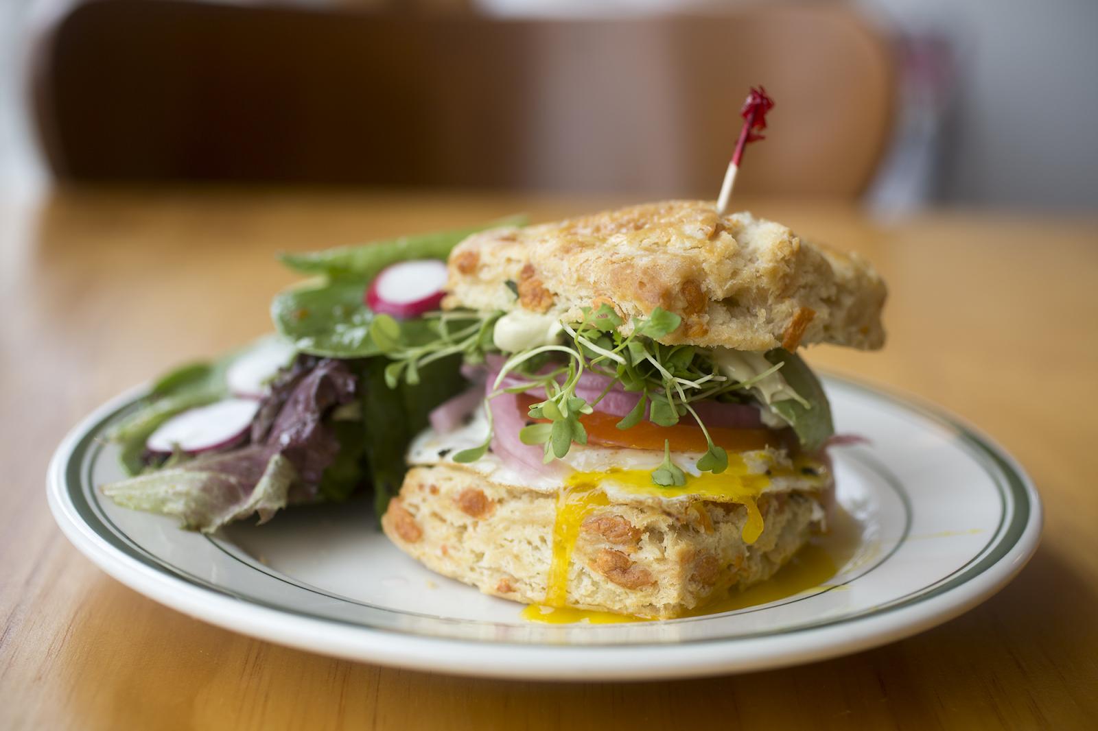 Photo of breakfast sandwich from Dough Mama