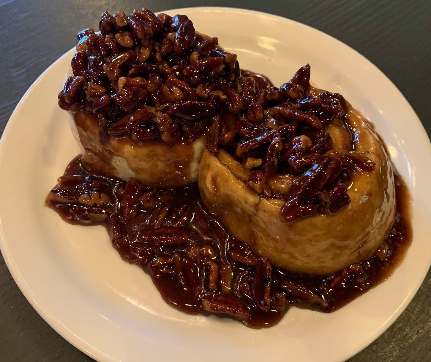 Photo of sticky pecan buns from Pat and Gracie's