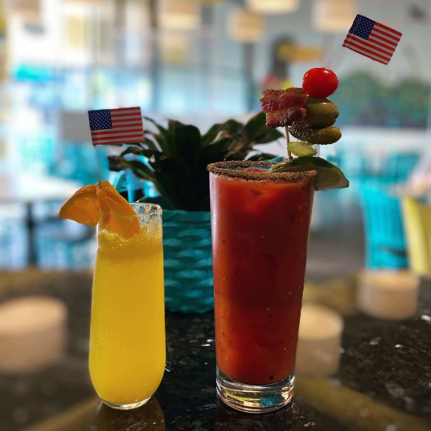 Photo of cocktails from BLunch