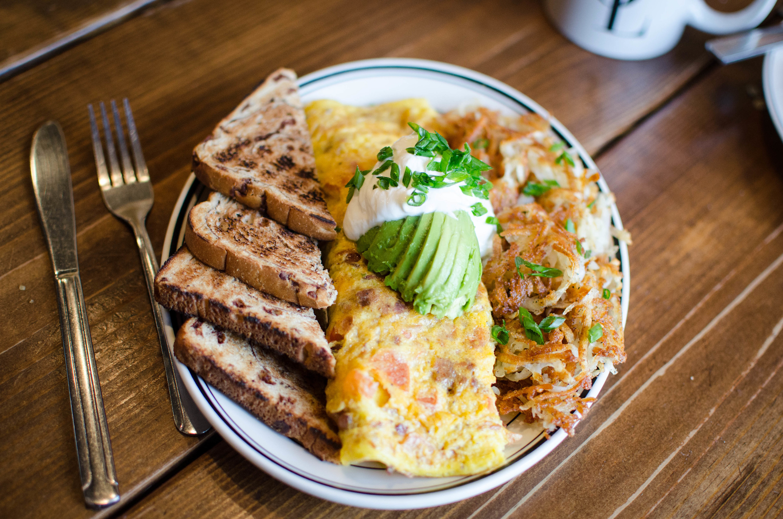 Photo of omelette and toast from South of Lane