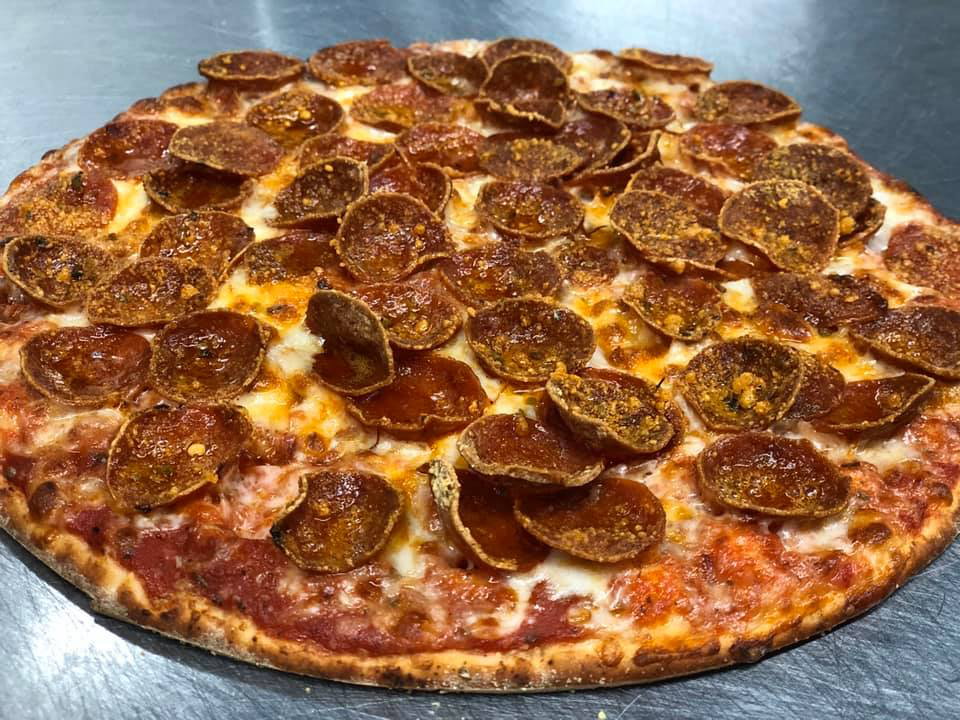 Photo of pepperoni pizza from Frankie's Pizza