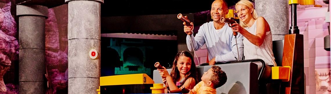 A family plays at Legoland