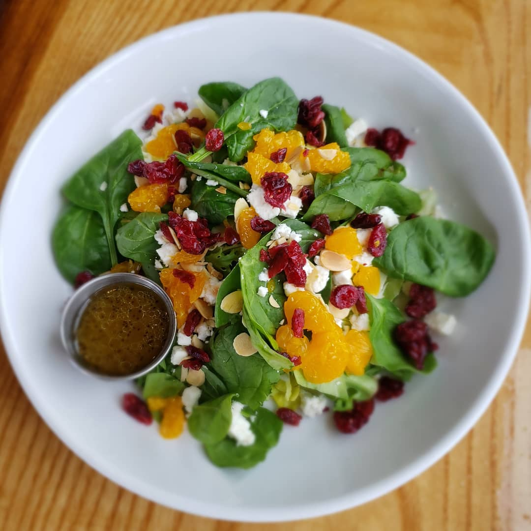 salad with oranges and poppyseed vinaigrette dressing from surve in sunbury ohio