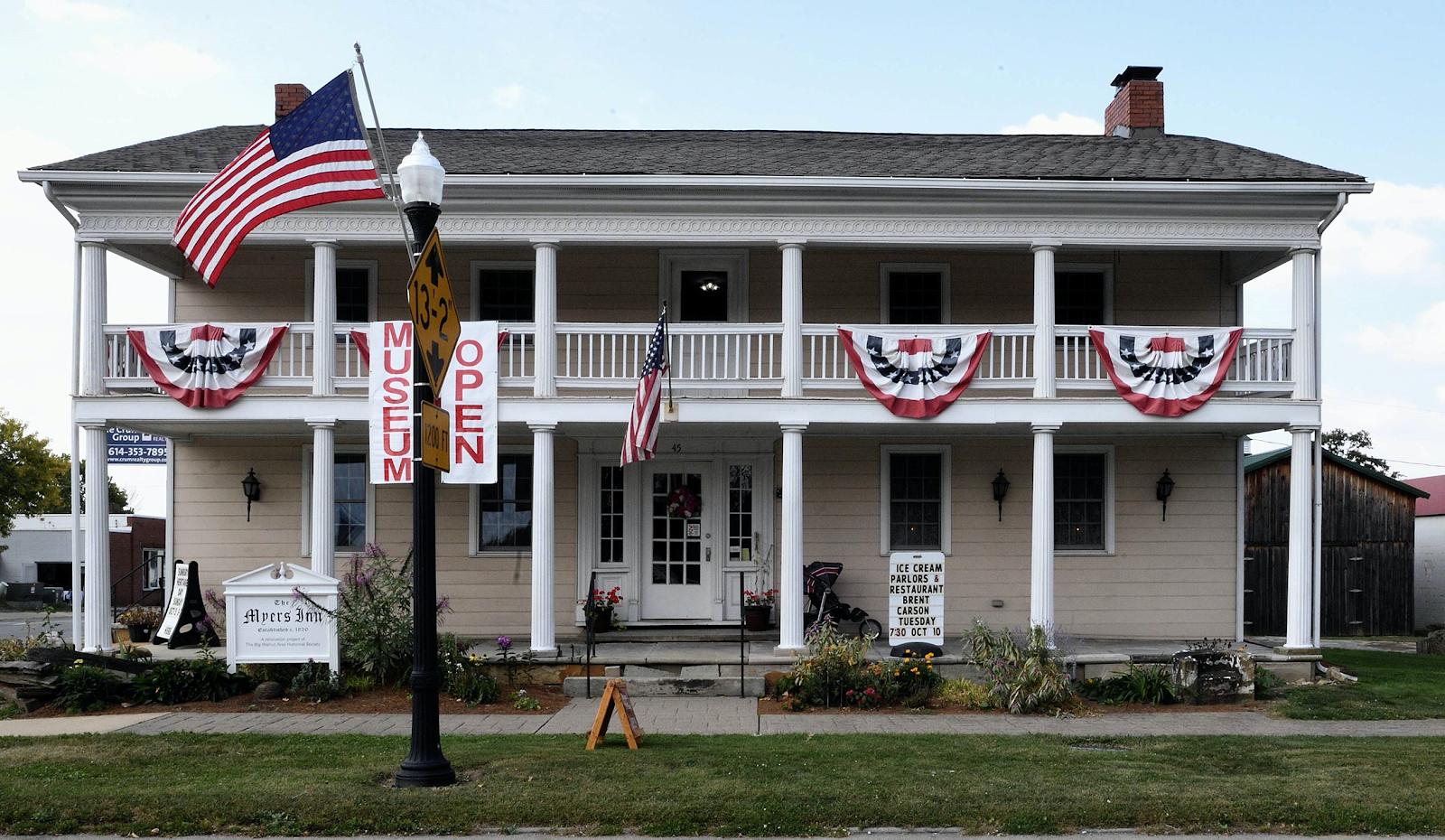 outside of the Myers Inn Museum