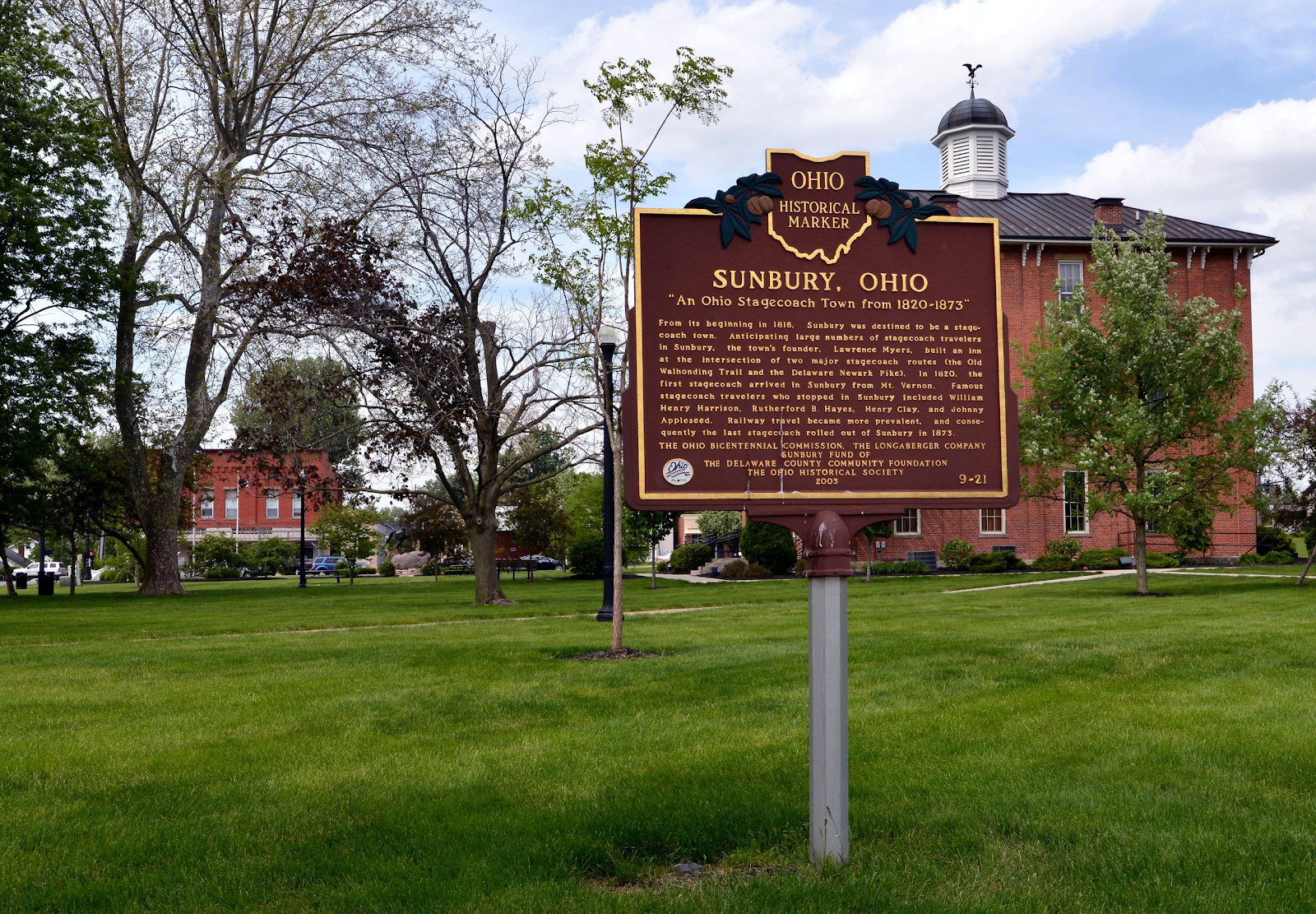 sunbury history sign
