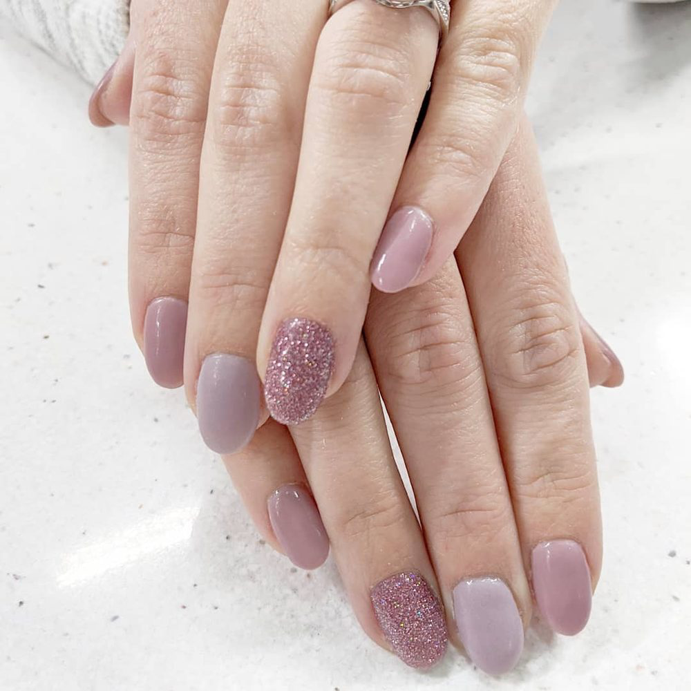 beautiful shades of purple on nails from CC's Nail Spa