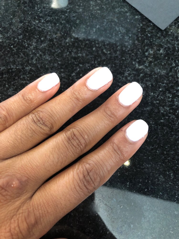 white manicure from Orchid Nail Spa