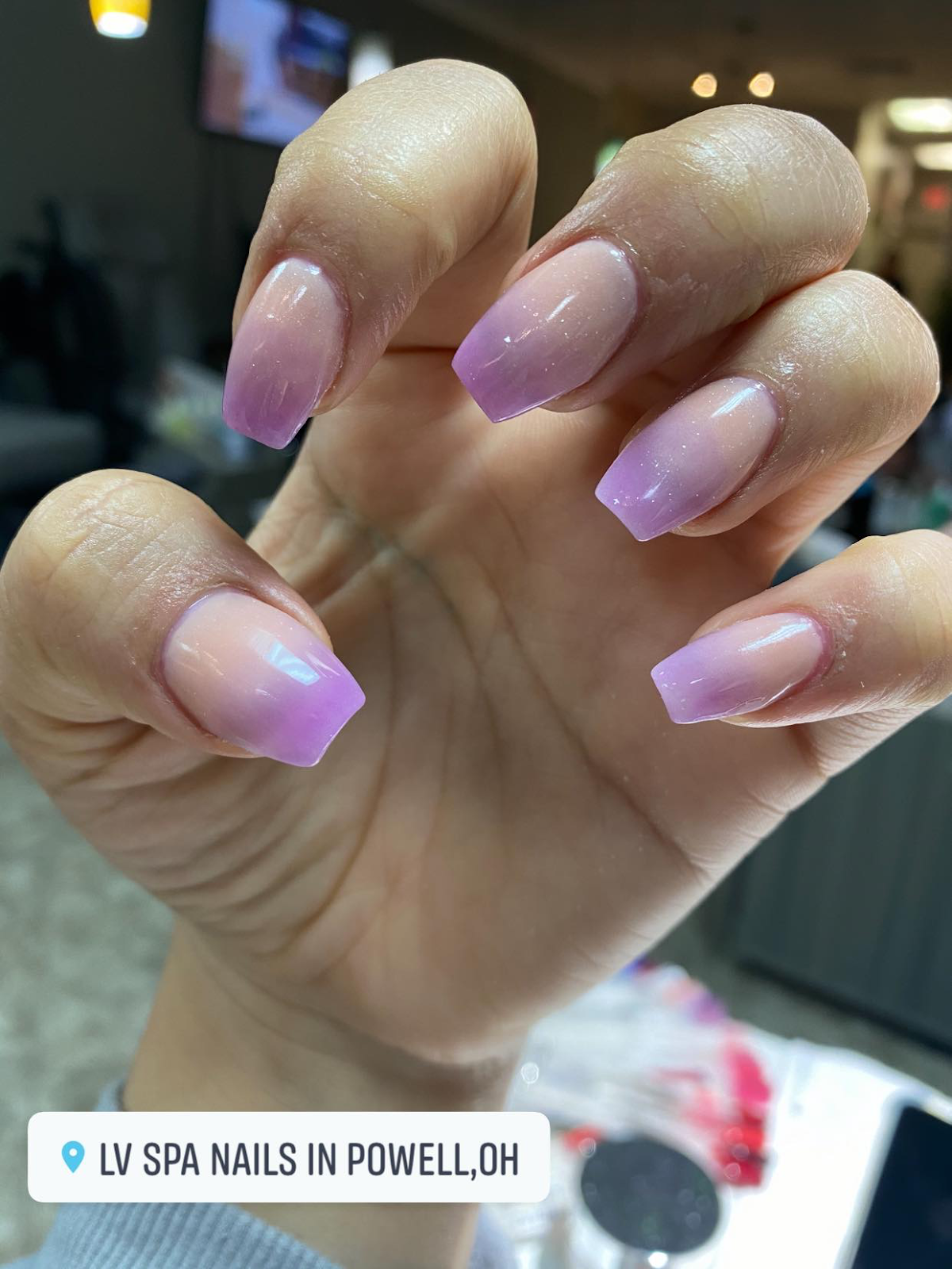 ombre nail design by LV Spa Nails