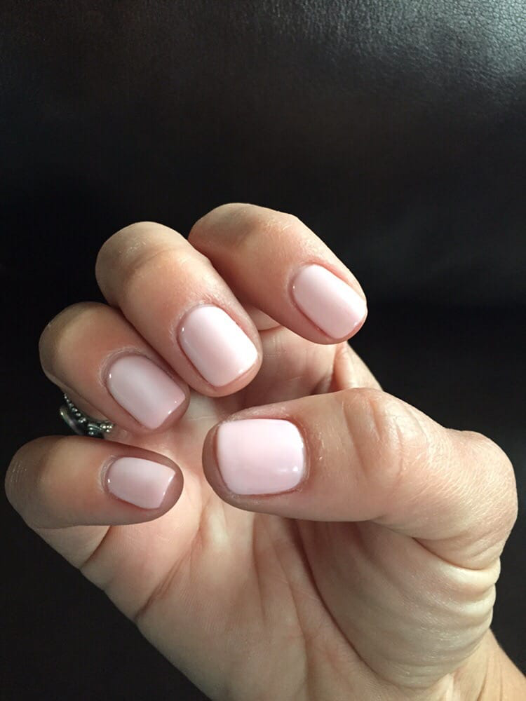 light pink manicure from Eco Nail Spa