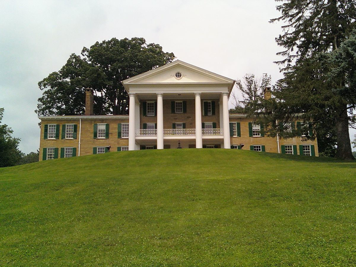 outside of the Bryn Du Mansion
