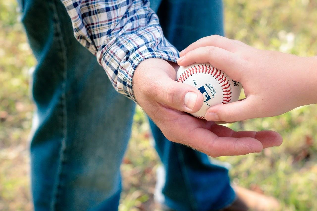 handing off a ball