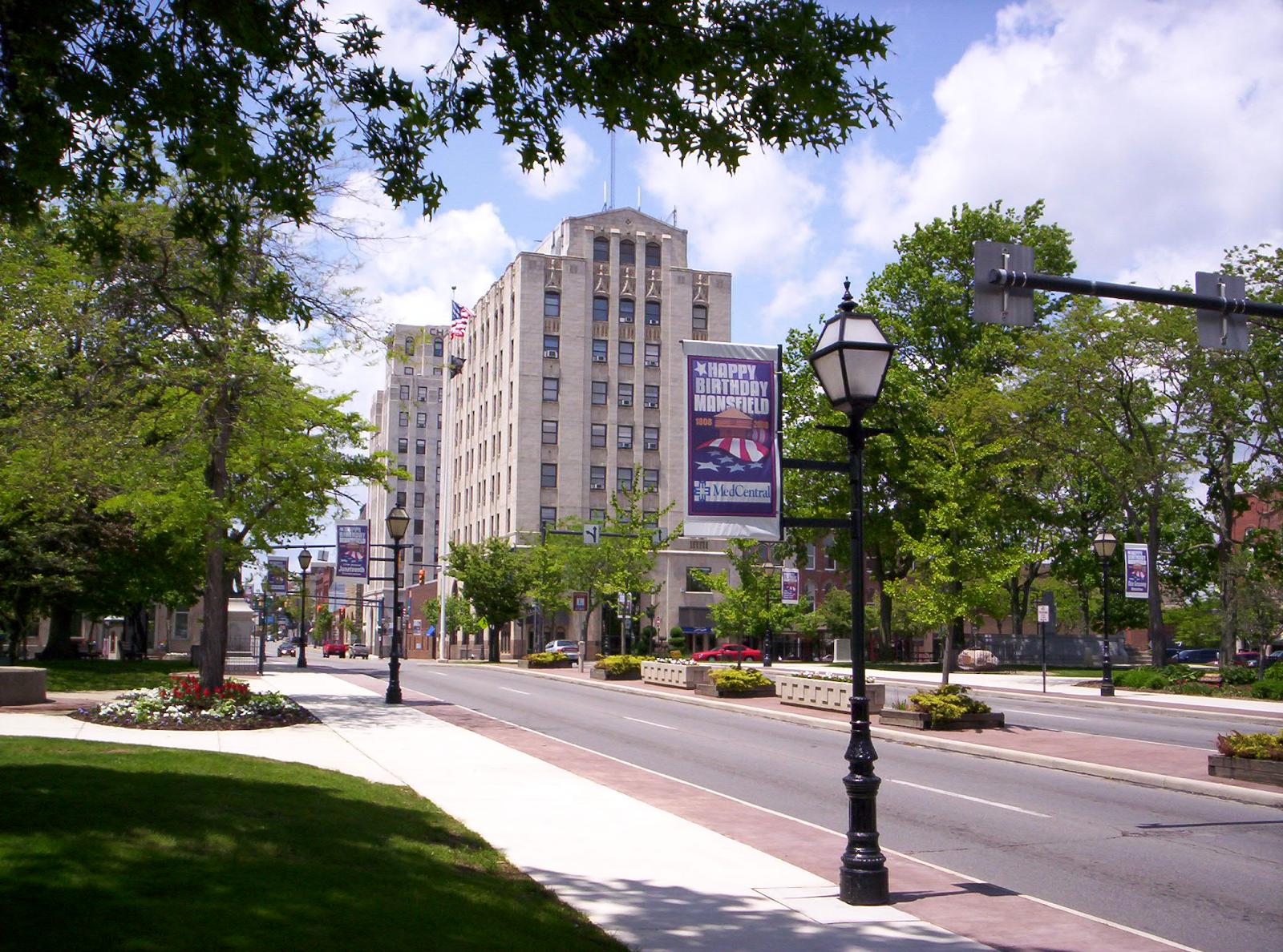 Historical downtown public square