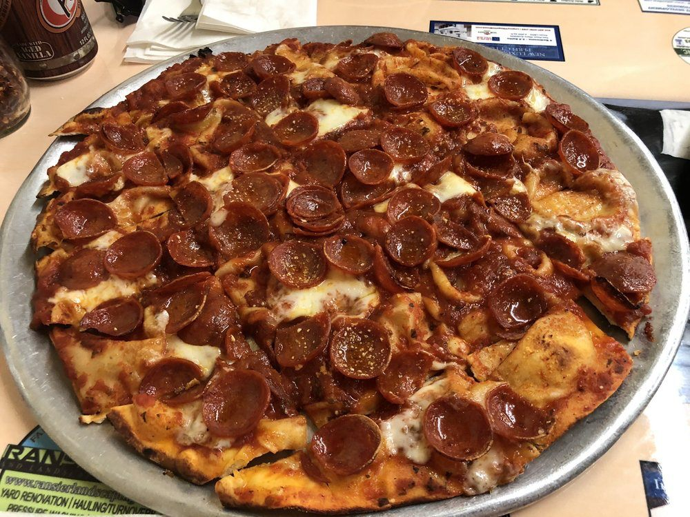 Rubino's pizza with pepperoni