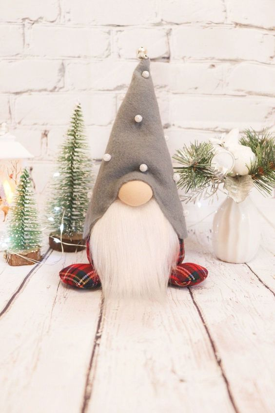 A Gnome With A Grey Hat