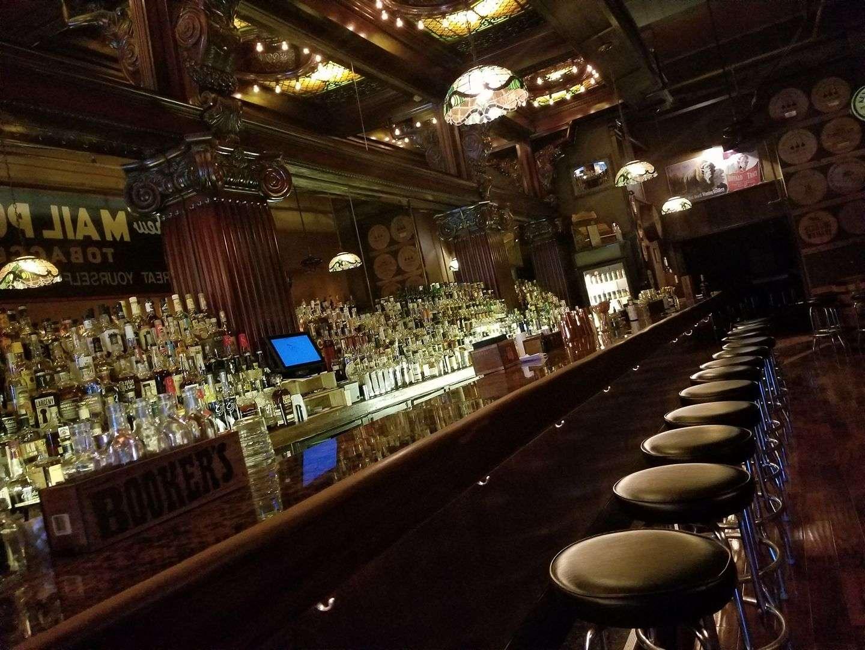 empty Century Bar interior