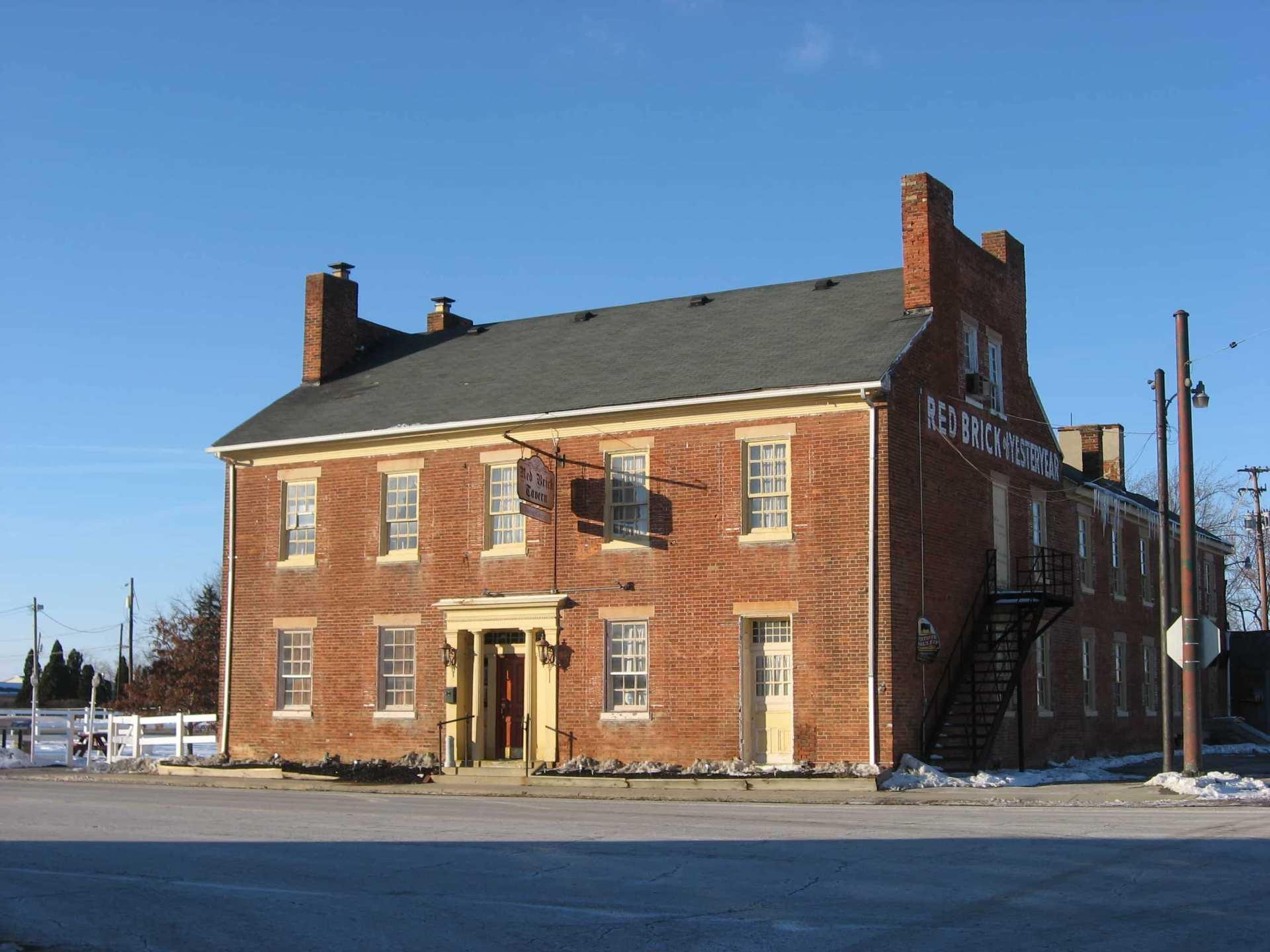 Street view of Historic Red Brick Tavern
