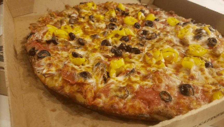 Pizza from Zanzis Pizza