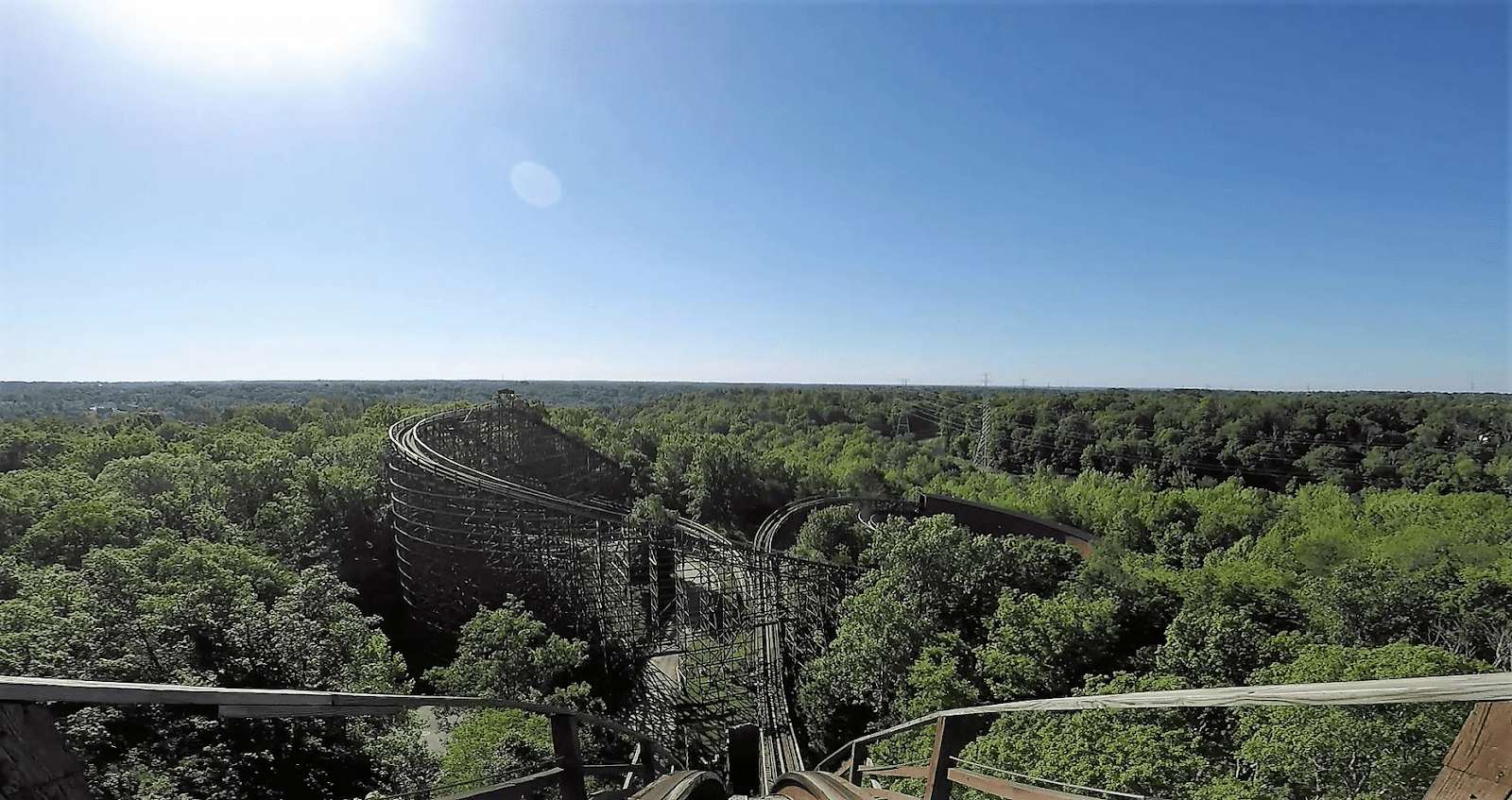 Kings Island Ohio Roller Coaster view