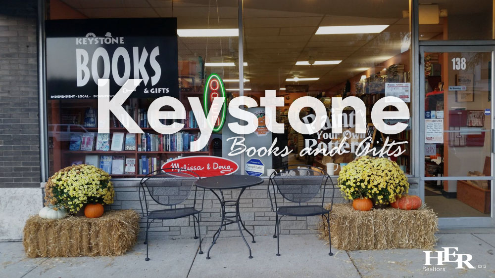 Outside of Keystone Books Store