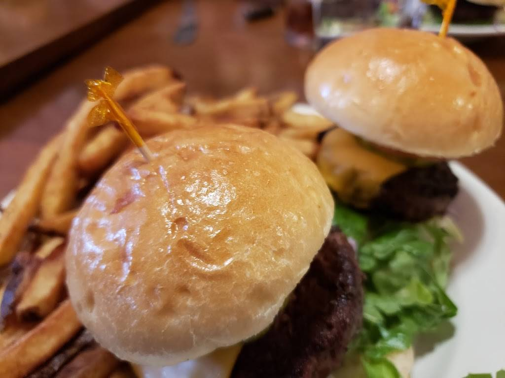 Delicious beef cheeseburgers from Uniontown Brewing Co. Image Courtesy of USA Restaurants.