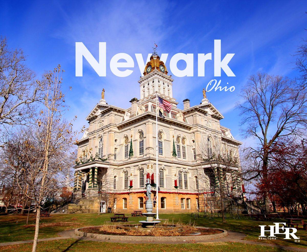 a stately white home in newark ohio