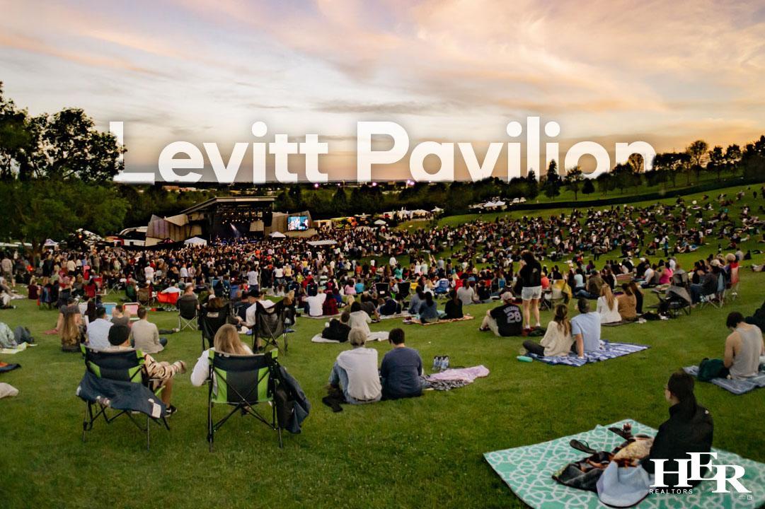 a concert at Levitt Pavilion in downtown Dayton