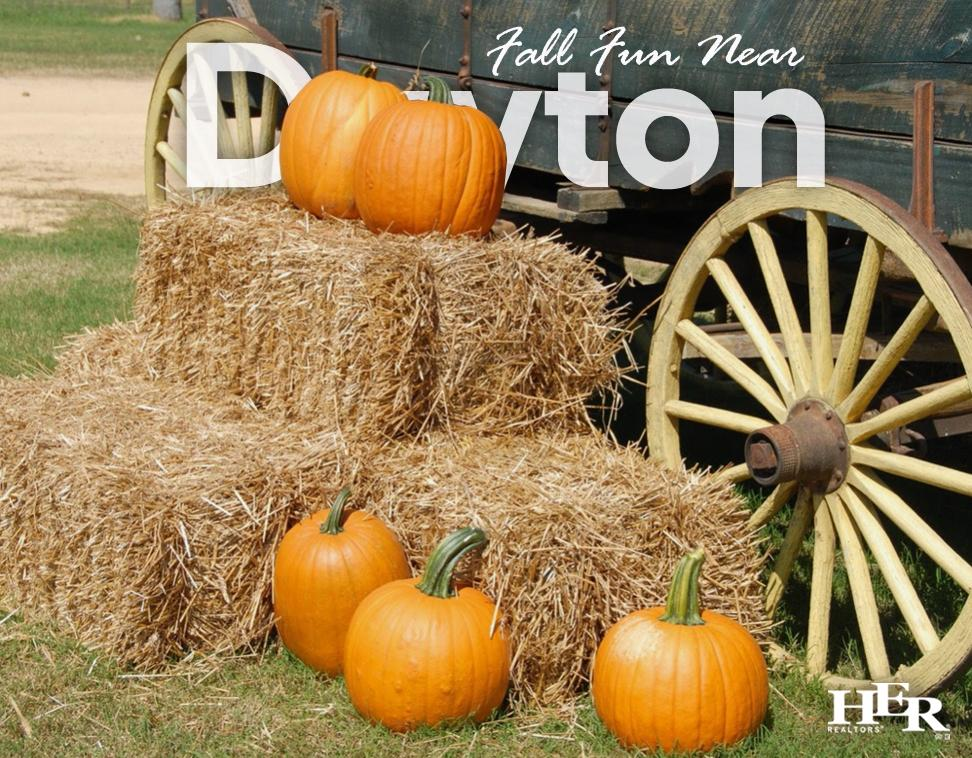 pumpkins stacked on hay bales near a wagon