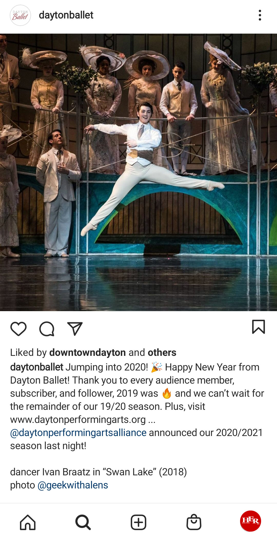 ballet performing