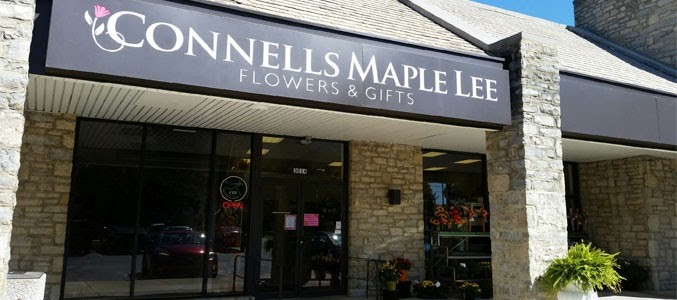 The Connells' Maple Lee Flowers & Gifts store front.