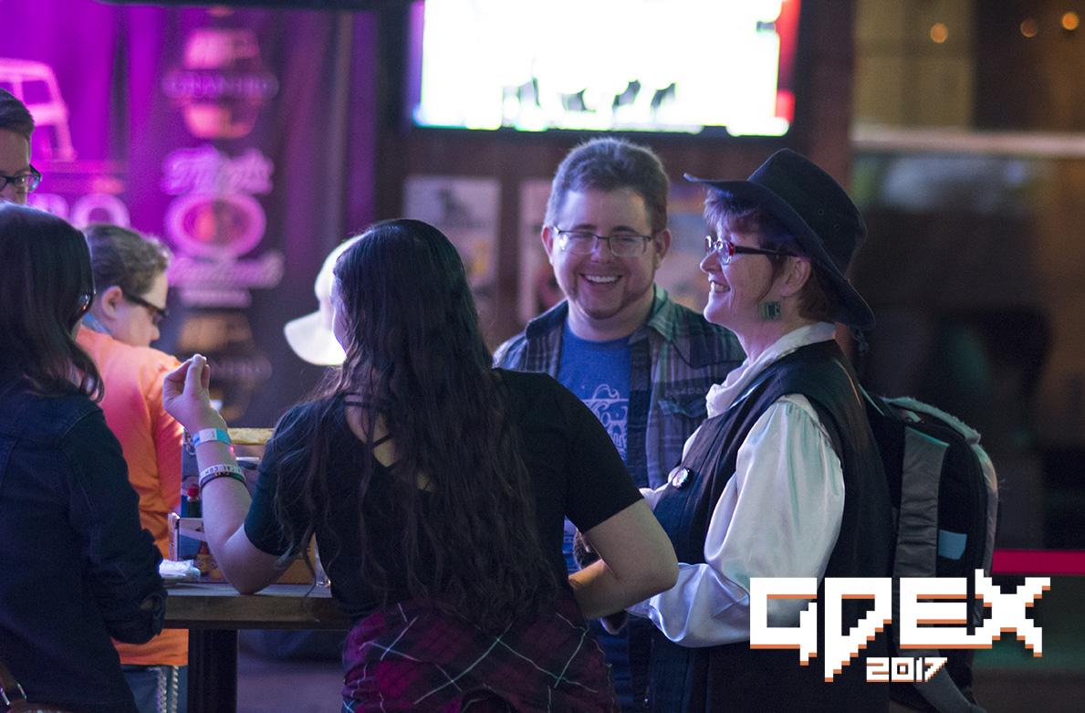 people conversing at GDEX 2017
