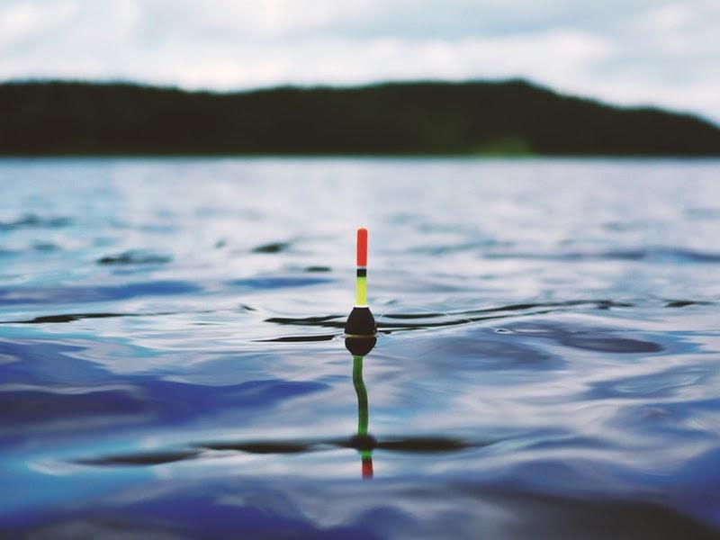 fishing in water