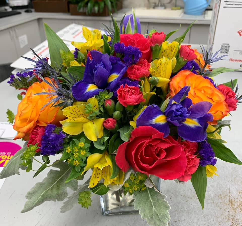 An image of a bouquet that is filled with color made at Flowerama.