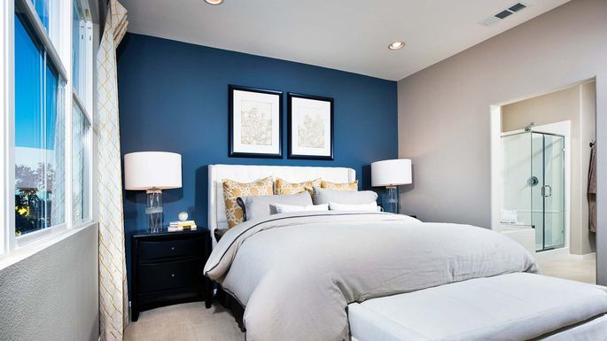 An image showing a blue accent wall.