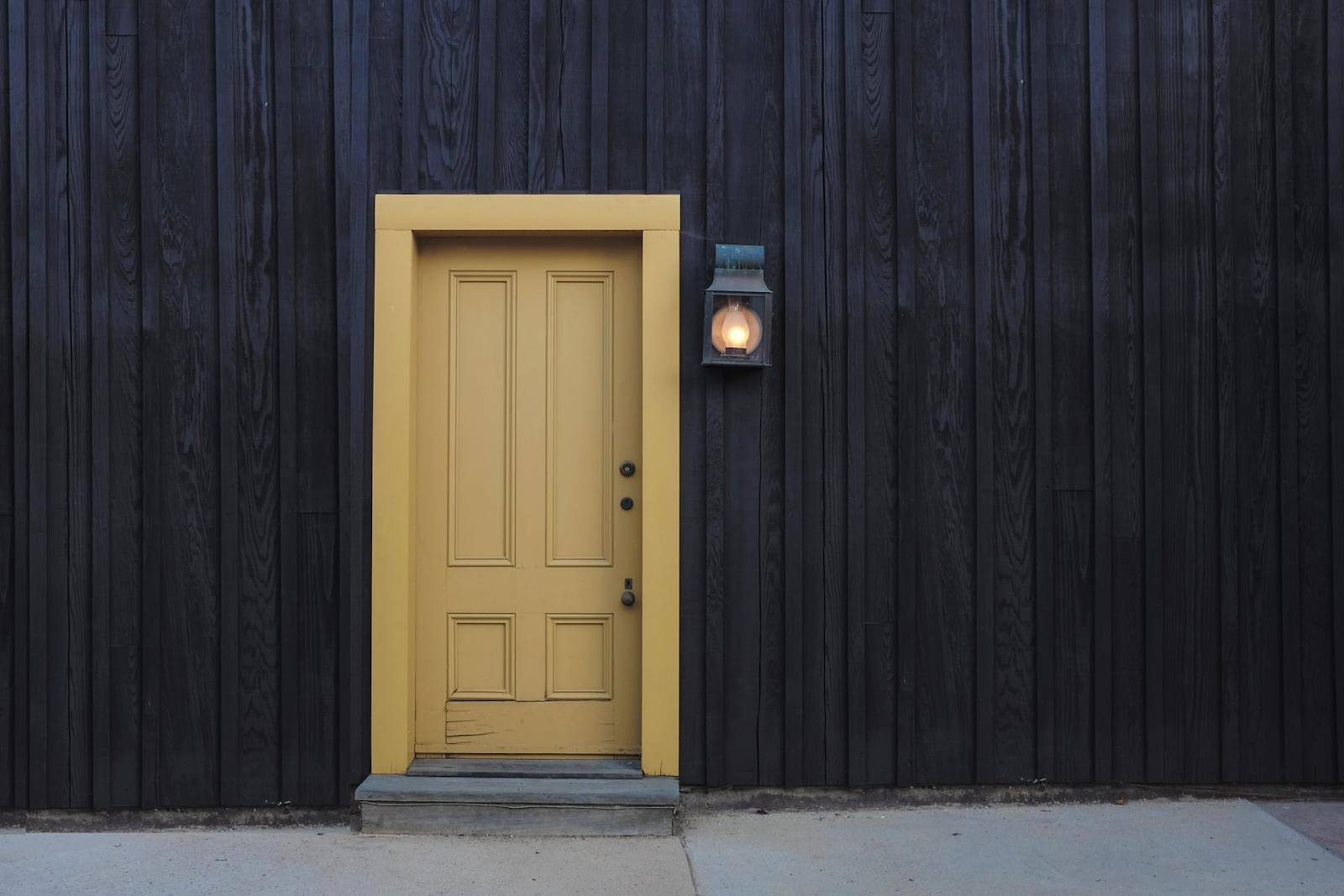 An image showing a painted front door project.