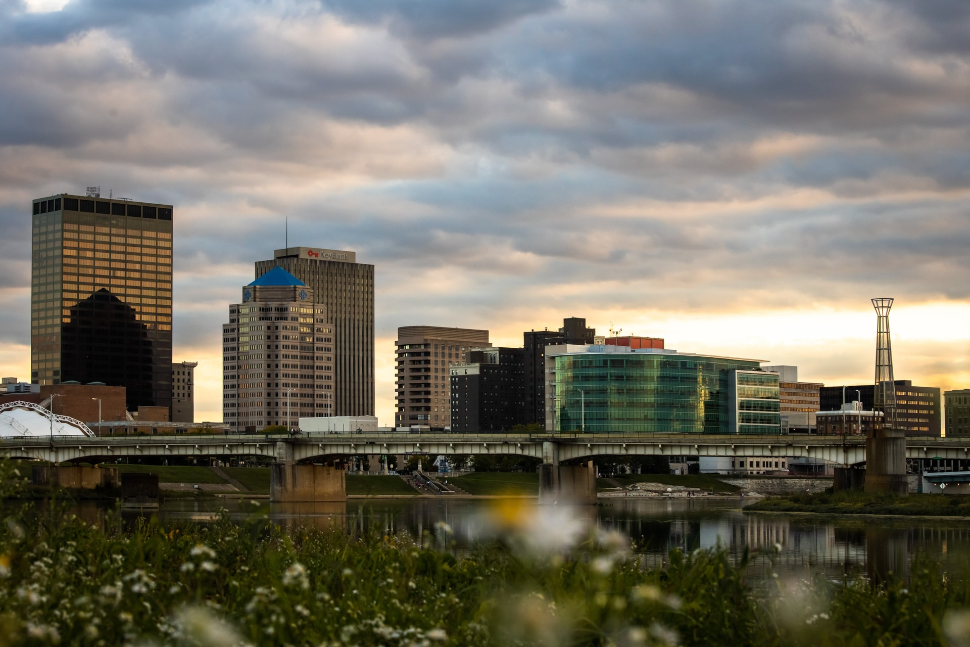 Beautiful Dayton skyline photo.
